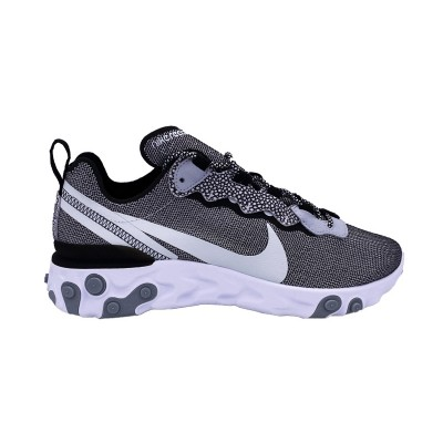 NIKE REACT ELEMENT 55 SE SNEAKERS BIANCO GRIGIO NERO CD2153-100