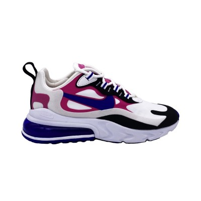 NIKE AIR MAX 270 REACT SNEAKERS BIANCO ROSA BLU NERO CI3899-100