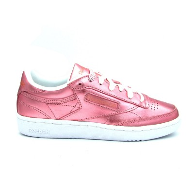 REEBOK CLUB C 85 S SHINE SNEAKERS ROSA METALLIC CN0512