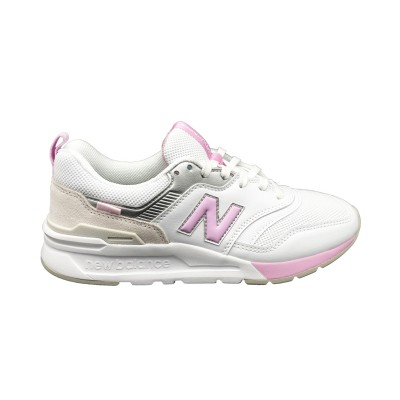 NEW BALANCE SNEAKERS 997 BIANCO ROSA ARGENTO CW997HFB