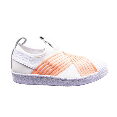 ADIDAS SUPERSTAR SLIP ON W SNEAKERS BIANCO ROSA D96704