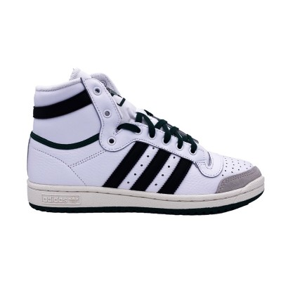 ADIDAS TOP TEN HI SNEAKERS BIANCO NERO VERDE EF6364