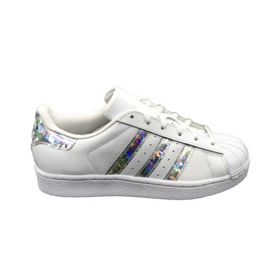 ADIDAS SNEAKERS SUPERSTAR J  BIANCO ARGENTO F33889