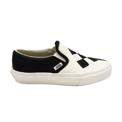 VANS SNEAKERS CLASSIC SLIP-ON NERO BIANCO  F7VMW1