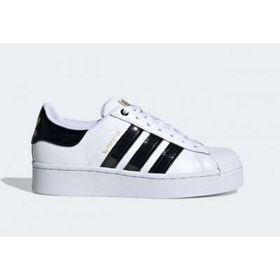 ADIDAS SUPERSTAR BOLD W SNEAKERS BIANCO NERO LUCIDO FV3336