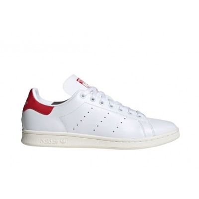 ADIDAS STAN SMITH SNEAKERS BIANCO ROSSO FV4146
