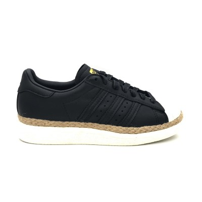 ADIDAS SUPERSTAR 80s NEW BOLD W SNEAKERS NERO BEIGE PANNA CQ2365