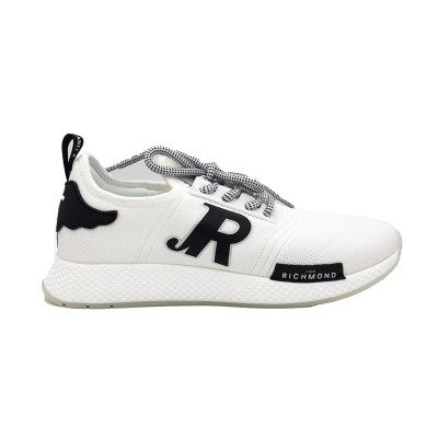 JOHN RICHMOND SNEAKERS SOCK BIANCO NERO JR1/M A