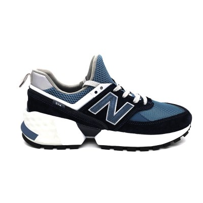 NEW BALANCE SNEAKERS 574 CELESTE BLU BIANCO MS574EDC