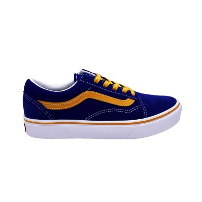 VANS COMFYCUSH OLD SKOOL SNEAKERS BLU GIALLO BIANCO UHAWI5