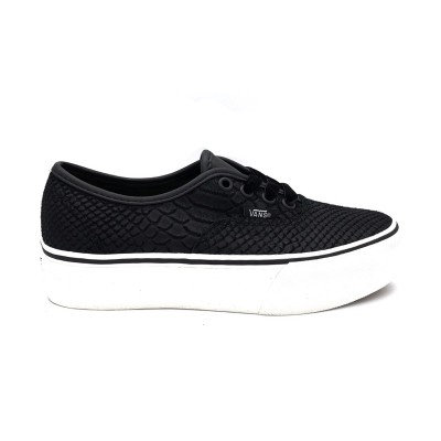 VANS AUTHENTIC PLATFOR SNEAKERS NERO BIANCO V8UQF1