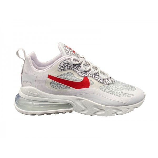 NIKE AIR MAX 270 REACT SNEAKERS GRIGIO ROSSO BIANCO CT2535-001